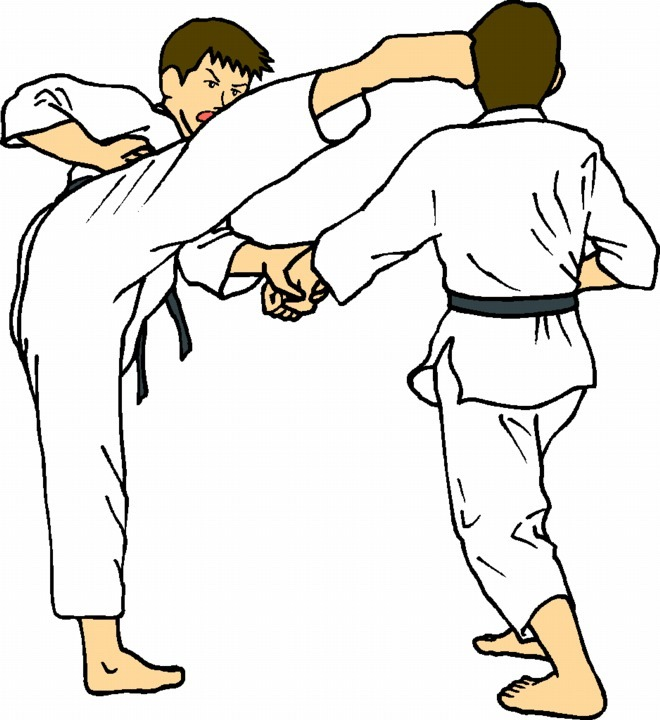 I have assembled 120 pieces of martial arts clip art like this one: