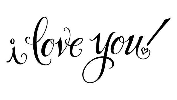 I Love You Clip Art