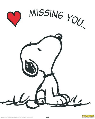 I Miss You Snoopy Clipart- Free clipart