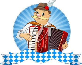 iCLIPART - Oktoberfest Accordion Player with stripe for text