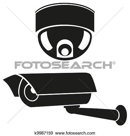 icons of surveillance cameras