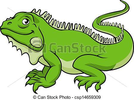 Cartoon Iguana Lizard - csp14659309