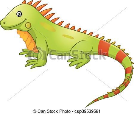 Cute iguana cartoon - csp39539581