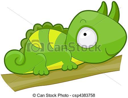 Cute Iguana - csp4383758 - Iguana Clipart