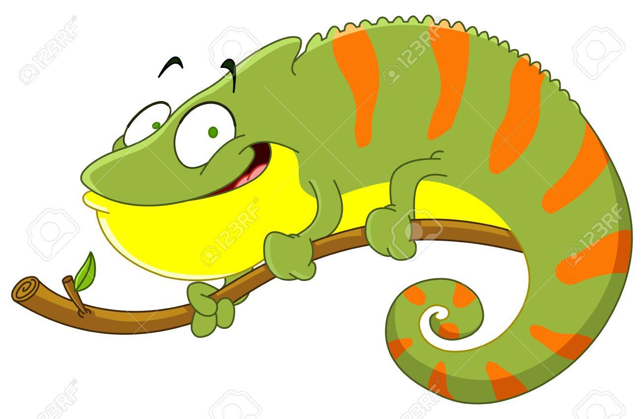 Green Iguana clipart chameleon #1
