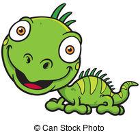 Iguana Clip Artby kebay0/52 Iguana - Vector illustrations of Cartoon green  iguana