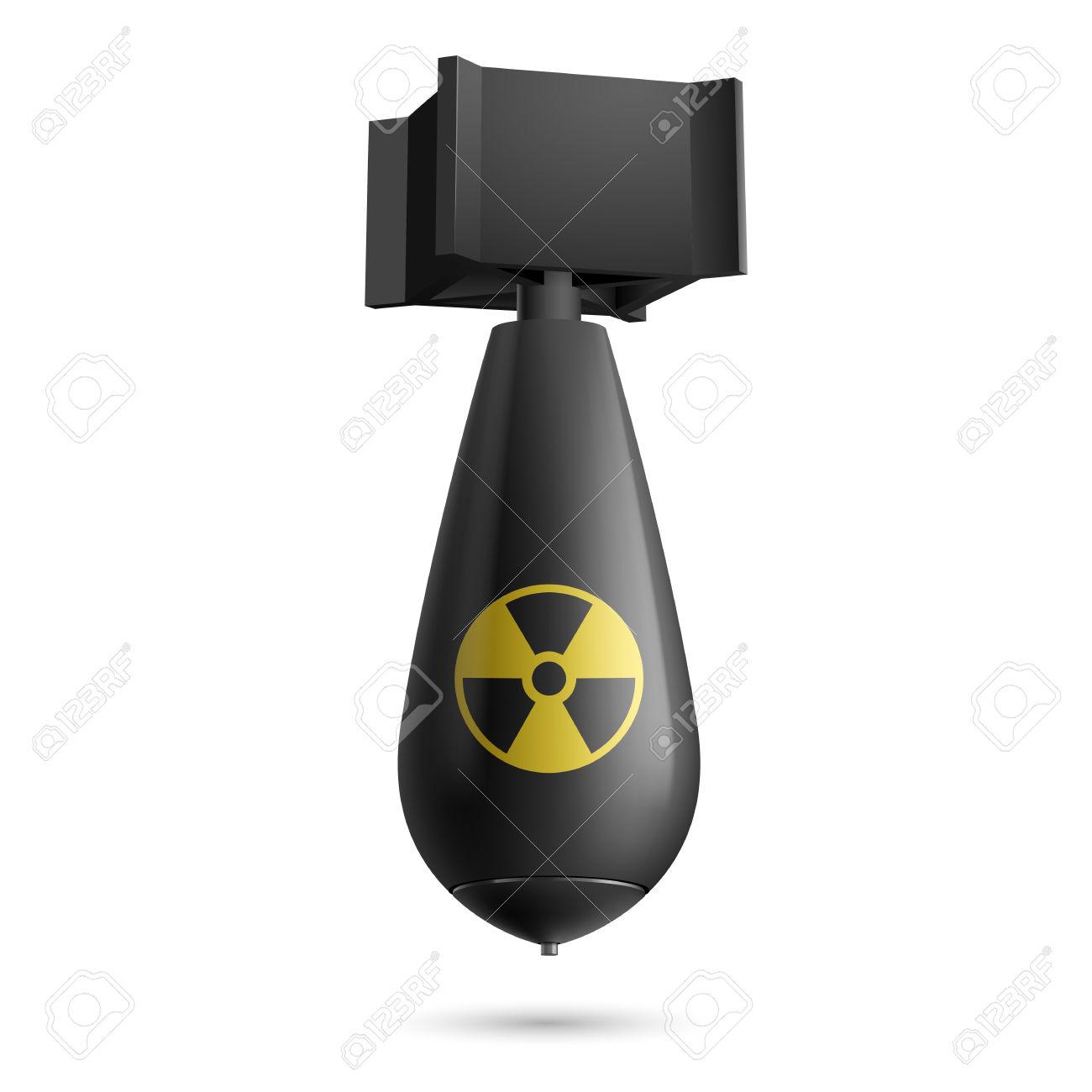 Illustration of a atomic bomb .