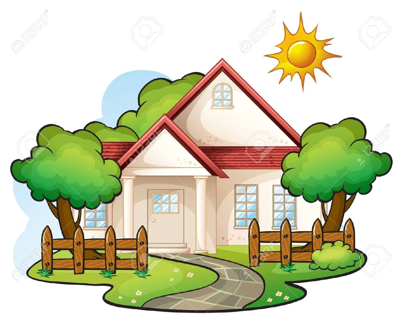 Illustration Of A House On A ..