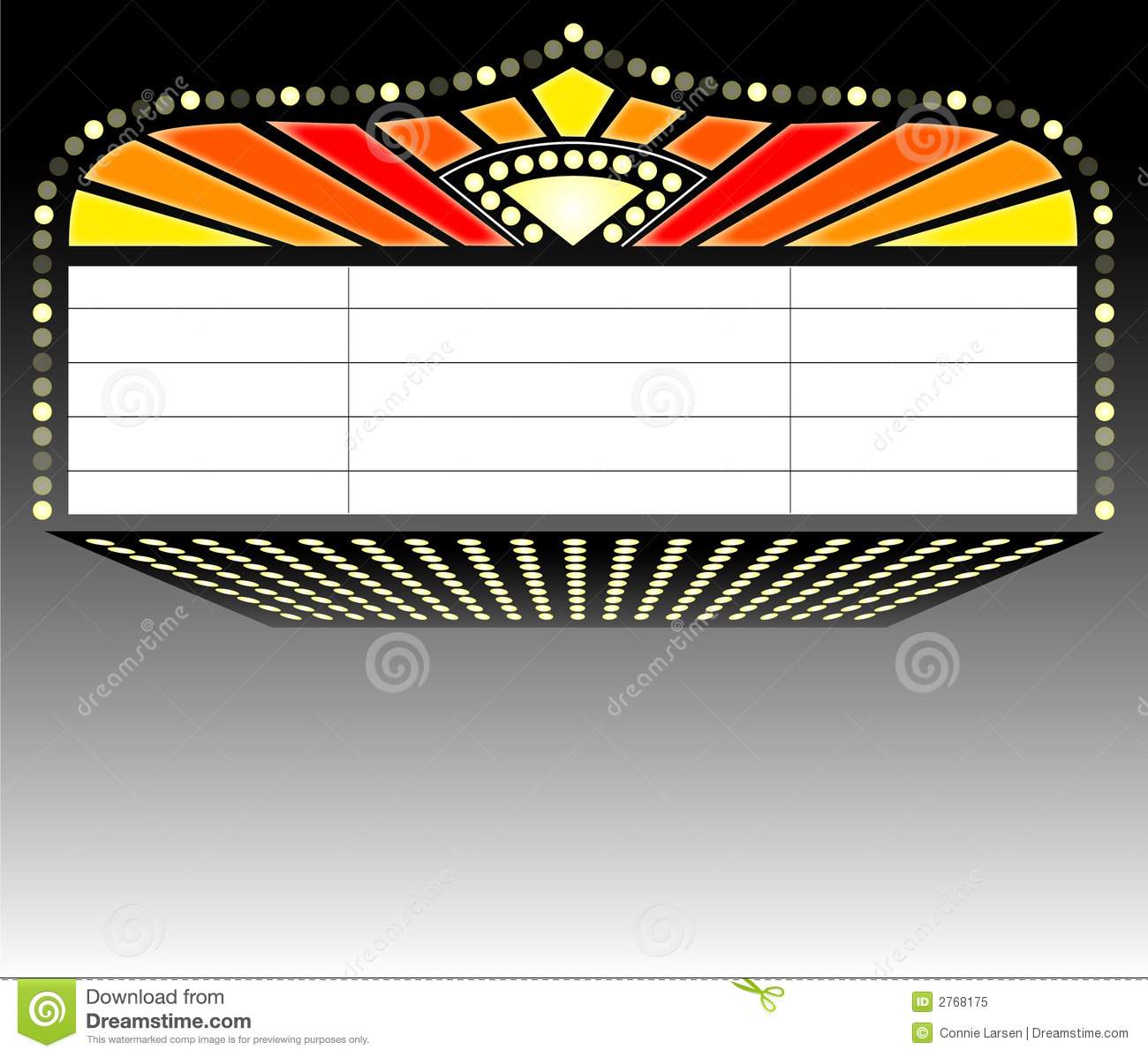 Illustration Of A Theater Marquee Sign Suitable For A Playbill Or