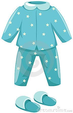 Ilustraci N De Pijamas Aislados Con El Deslizador En El Fondo Blanco