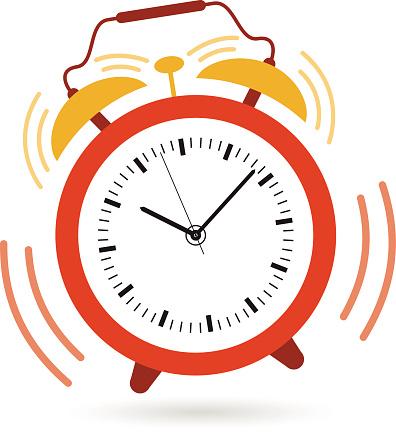 Image of an alarm clock .