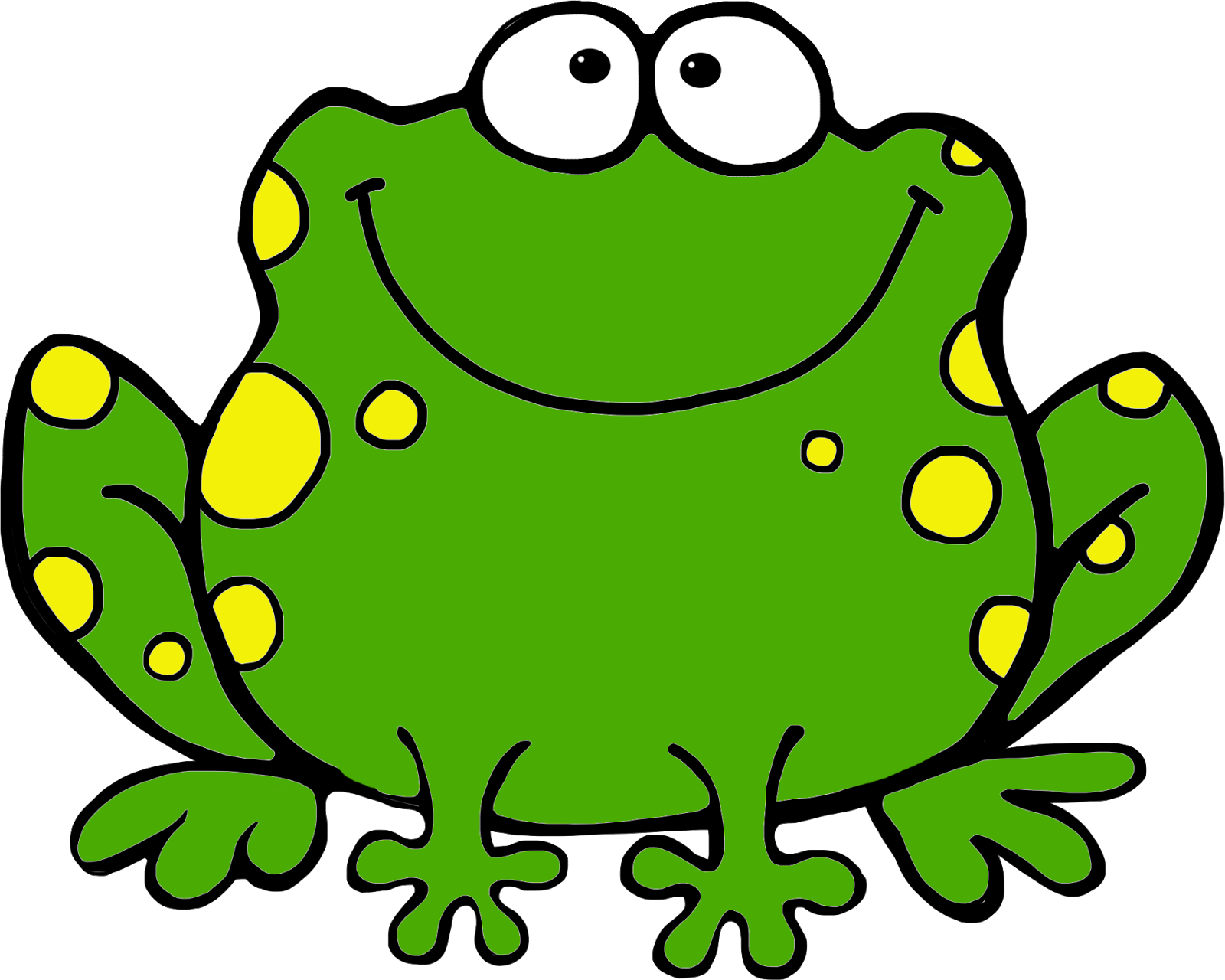 Image of cute frog clipart 6 .