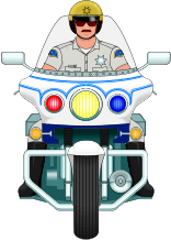 ... Image: Police - Law enforcement Clip art - Policeman on Yamaha Motorcycle ...