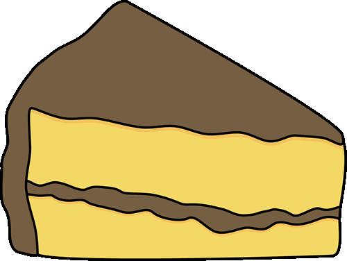 Image Yellow Slice Of Cake .