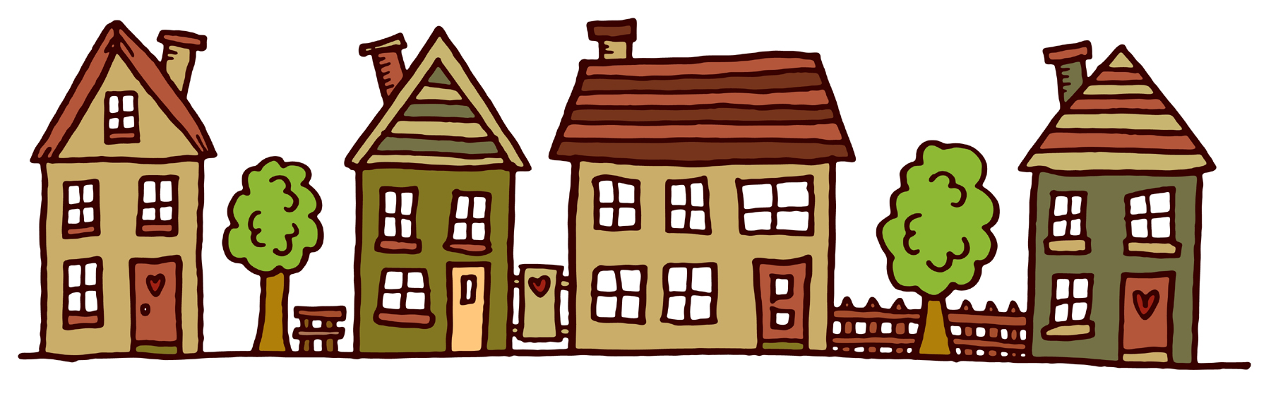 Images For Row Of Houses Clipart