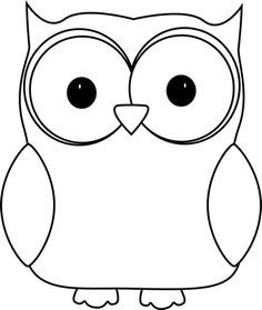 images of owls clipart | Black and White Owl Clip Art Image - white owl with