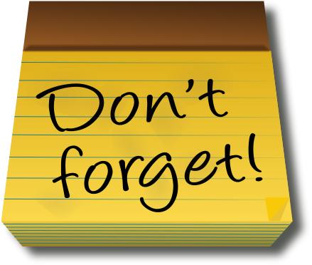 Important Reminder Clip Art