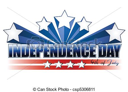 ... independence day sign isolated over white independence day Clipartby ...