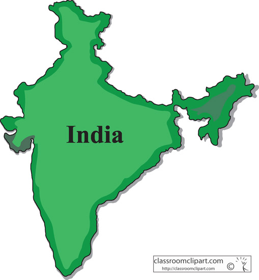 India India Map 1004 Classroom Clipart