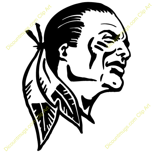 indian head clipart