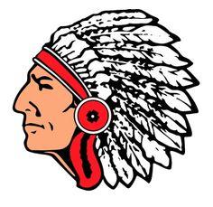 Indian Logo Clipart; Indian head mascot clipart ...