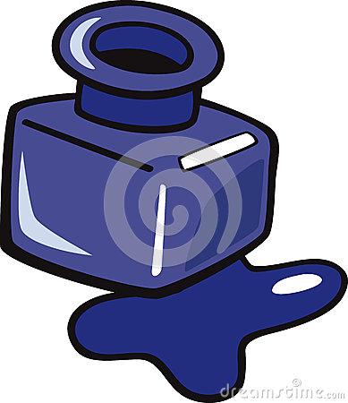 Ink Clipart Ink Clip Art Cartoon Illustration Blue Bottle 32871207 Jpg