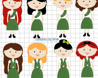 INSTANT DOWLOAD Girl Scouts Clipart Scrapbook for Personal and Commercial Use