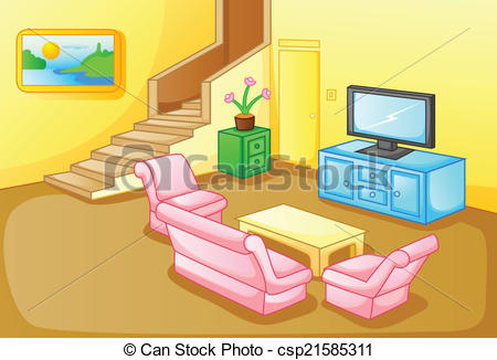 Interior of a house living room - csp21585311