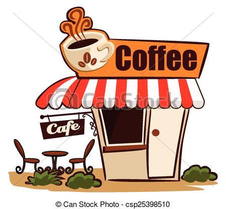 International Cafe Clipart Honeymoon Clipart. Advertising. Coffee Shop - csp25398510