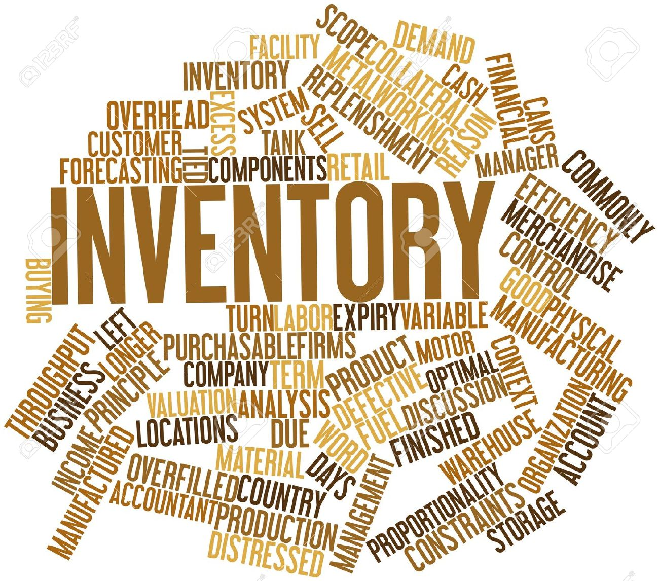 inventory: Abstract word cloud .