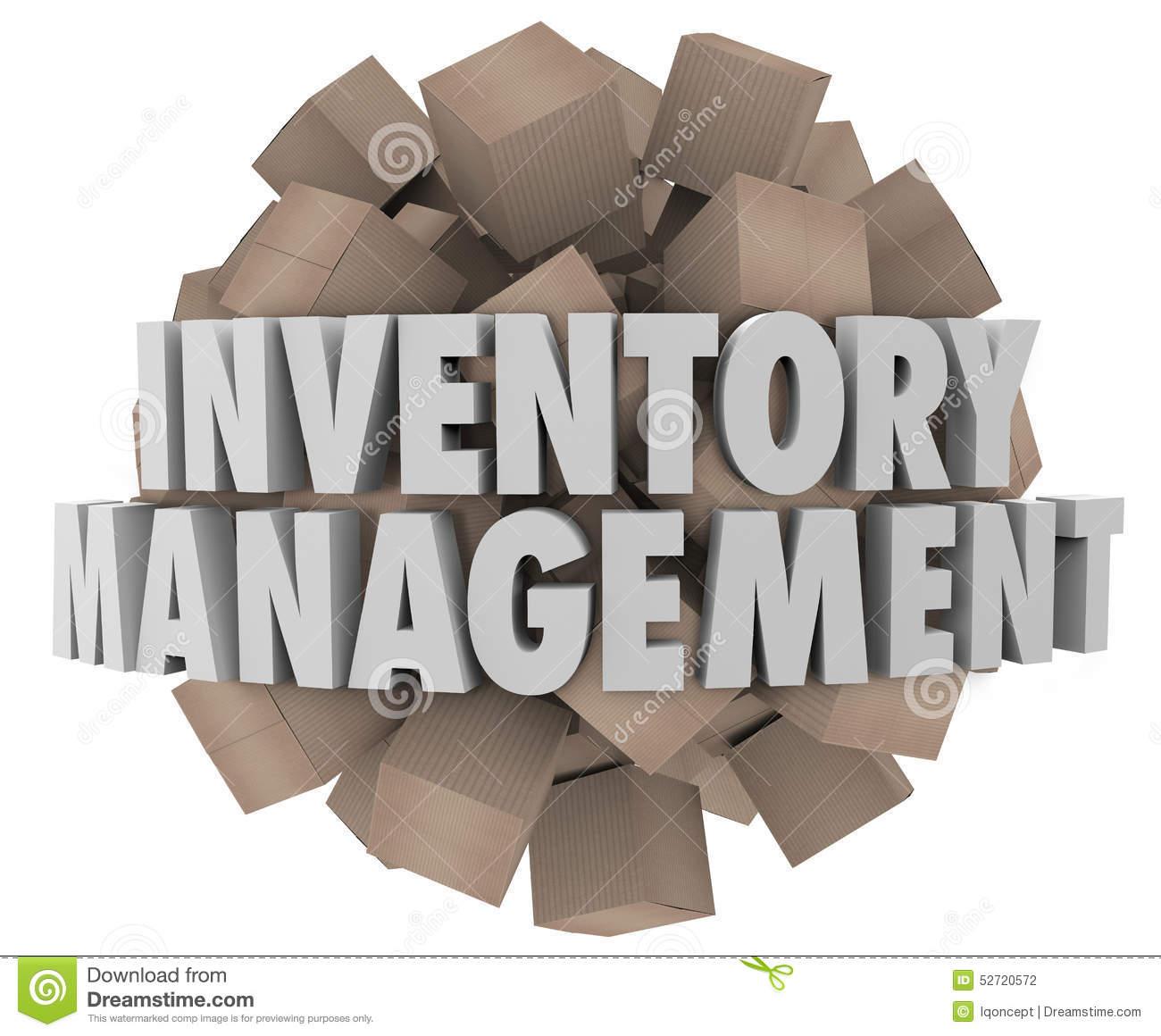 Inventory Management Cardboard .