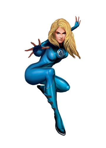 Invisible Woman Transparent PNG Image