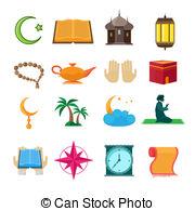 . ClipartLook.com Islam icons set - Islamic church traditional symbols icons.