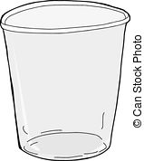 ... Isolated Empty Plastic Cup - One empty plastic cup over.