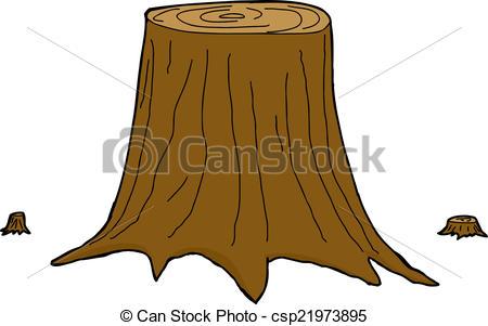 ... Isolated Tree Trunks - Three isolated cut cartoon tree.