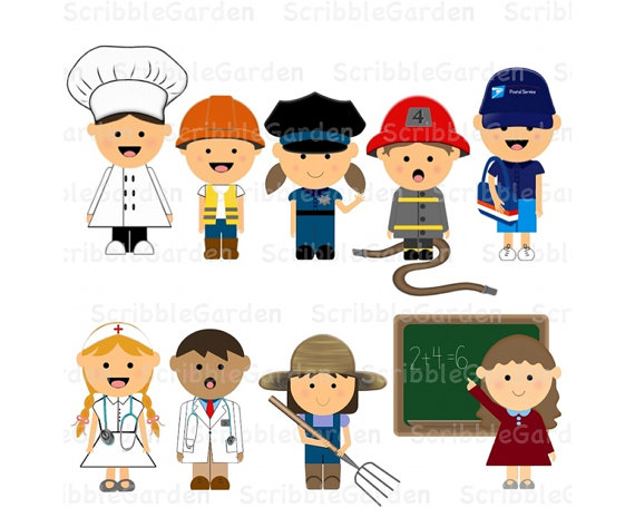 Items Similar To Community Helpers Digital Clipart On Etsy