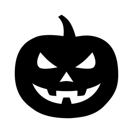 Jack-o-lantern jack-o-lantern Halloween carved pumpkin flat icon for