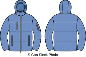 . hdclipartall.com Down jacket - Vector illustration of mens winter down.
