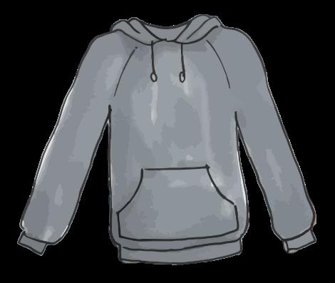 Free Gray Hooded Jacket Clip Art
