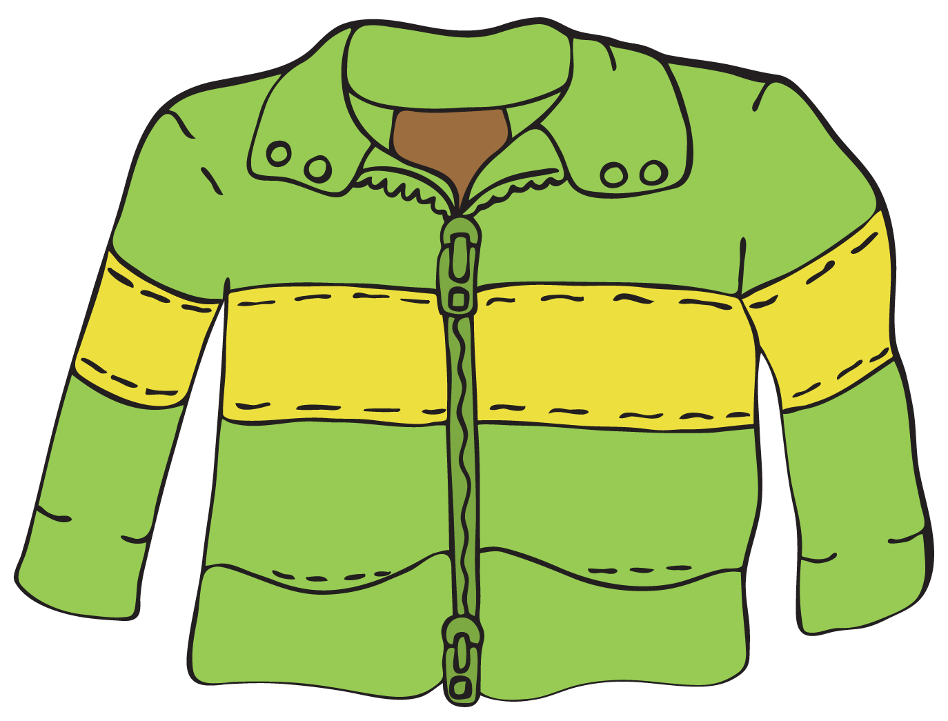 Snow Jacket Clipart #1