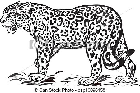 Jaguar Clip Artby Dazdraperma22/3,076; Wild jaguar,illustration with only one colour