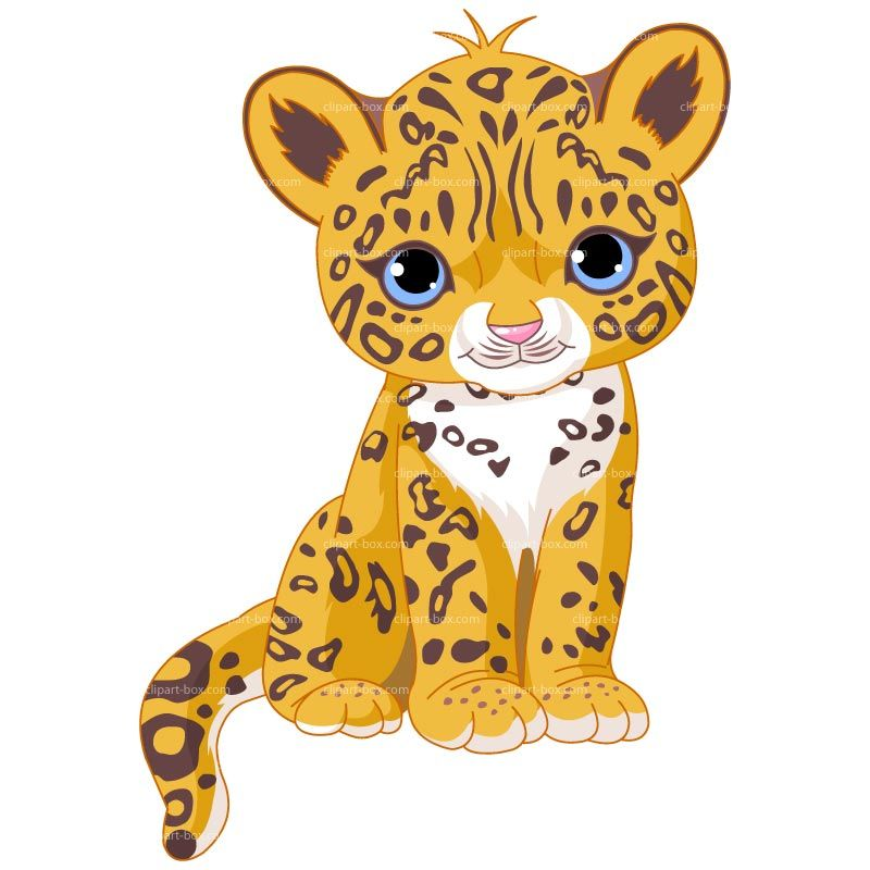CLIPART BABY JAGUAR SIT | Royalty free vector design