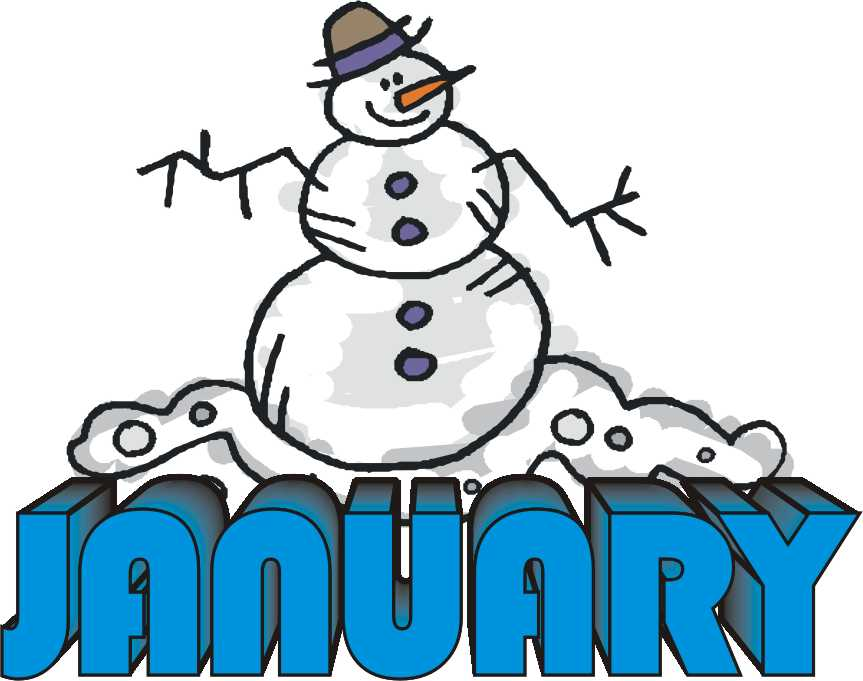 January month clipart free .