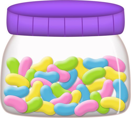 JAR OF JELLY BEANS. Candy SweetieSweetie ShopClipart ...