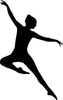 Jazz Dancer Silhouette Clipart