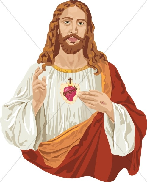 Jesus Christ and the Sacred H - Jesus Clipart
