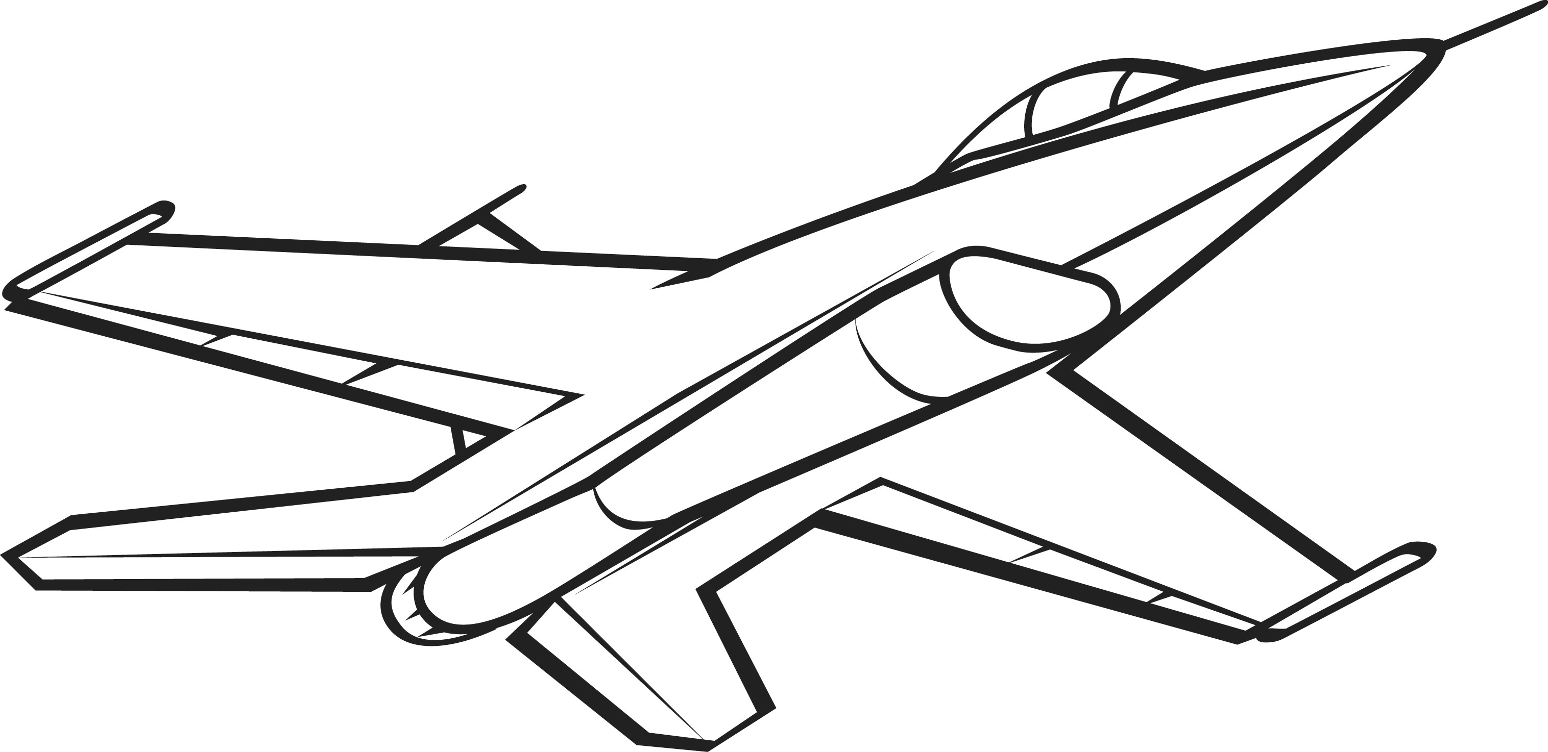 Jet Clipart Black And White Clipart Panda Free Clipart Images