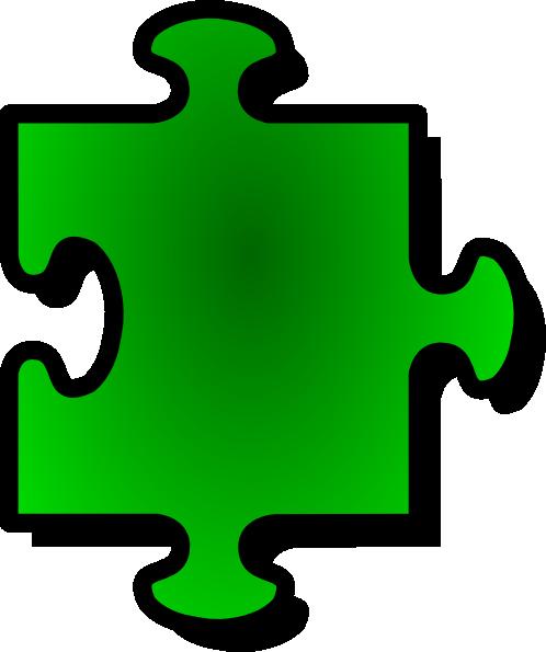 Jigsaw Green Puzzle Piece Clip Art At Clker Com Vector Clip Art