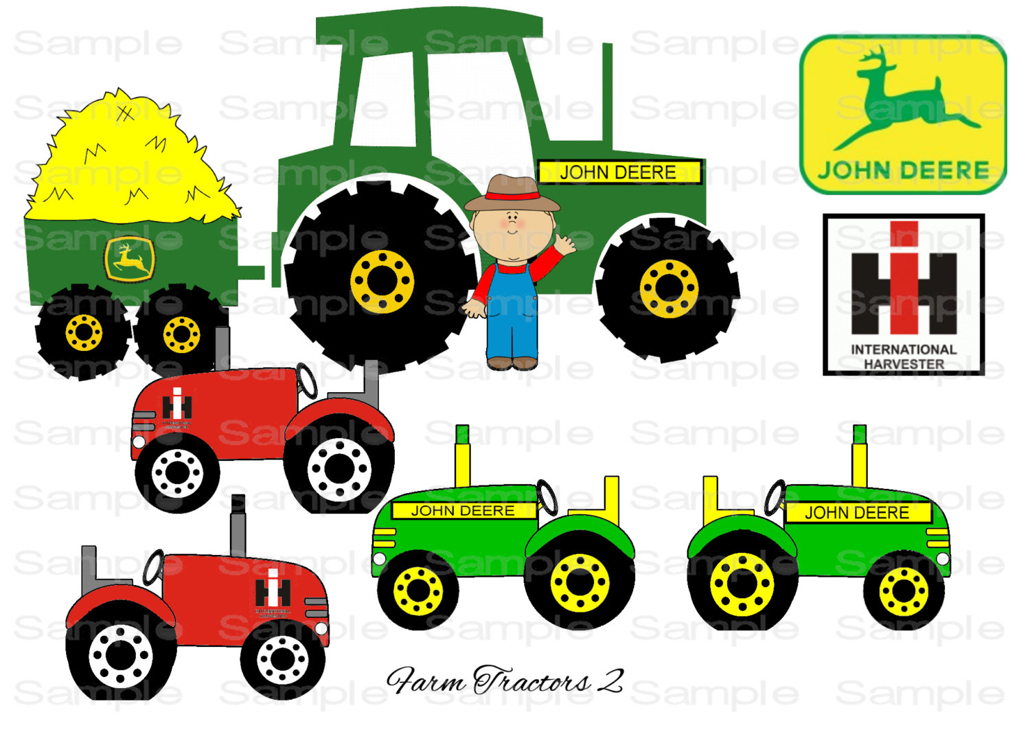 10 John Deere Tractor Clipart Preview Johnny Appleseed Hdclipartall