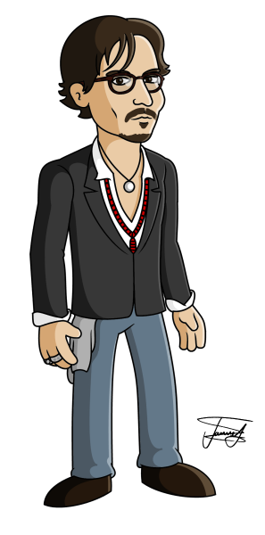 Johnny-Depp-Cartoon-Caricature